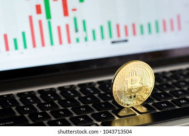 Bitcoin in the background