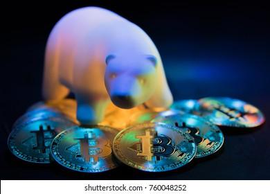 Bitcoin. Bear Market Symbol. GPU Mining.