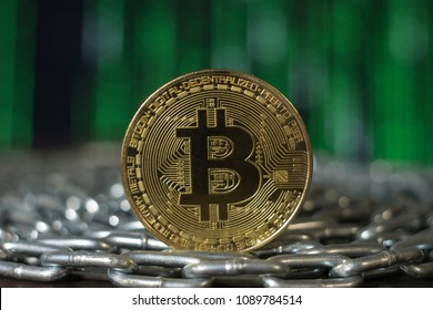 bitcoin. btc. Crypto currency bitcoin. bitcoin coin on the chain