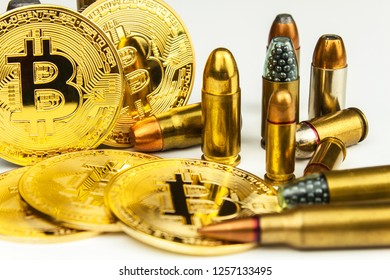 Bitcoin and cartridges of different caliber. Illegal trade in ammunition. Sale of weapons. Financing terrorism.