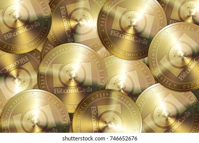 Bitcoin Cash Coins In Pile