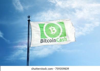 Bitcoin Cash Logo Flag (Green)
