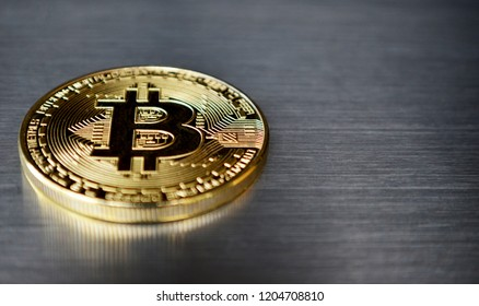 Bitcoin coin on background