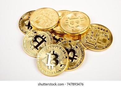 bitcoin coins isolated
