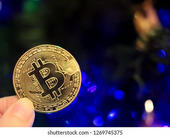 Bitcoin cryptocurrency. Concept with bitcoin.