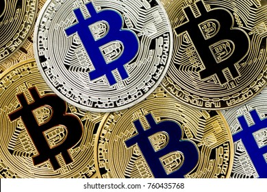 Bitcoin Cryptocurrency concept of virtual currency background (virtual coins)