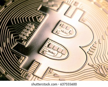 Bitcoin currency closeup business concept