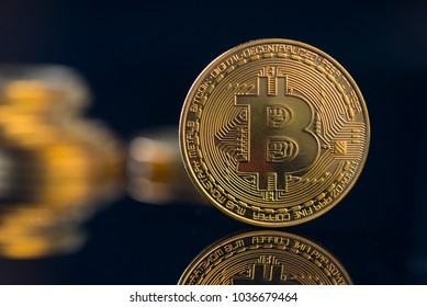 bitcoin currency with dark background
