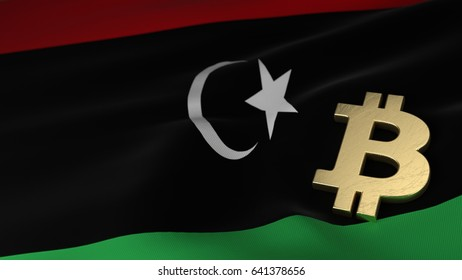 Libya currency icon images stock photos vectors shutterstock bitcoin currency symbol on flag of libya ccuart Choice Image