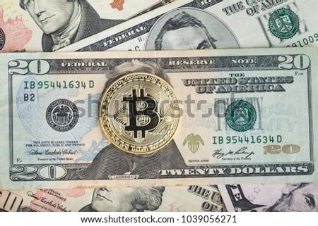 Bitcoin Dollar Btc Market Symbol Cryptocurrency Stock Photo Edit