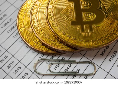 Bitcoin, ethereum and alternate cryptocurrencies coin symbol on tax form, crypto currency sign, future technology financial concept