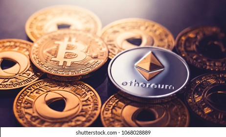 BITCOIN WITH ETHEREUM PHYSICAL COIN