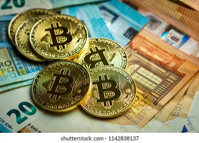 Bitcoin and Euro Background