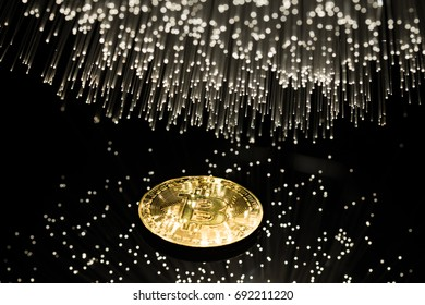 bitcoin with fibre optics light