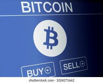 Bitcoin financial concept on a high resolution LCD screen.