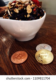Bitcoin with foods
