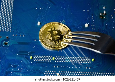 Bitcoin with a fork on the motherboard