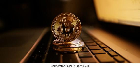 Bitcoin gold coin. Crypto currency coin