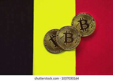 Bitcoin Gold Color on the Flag of Belgium
