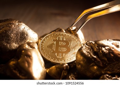 bitcoin and golden nuggets
