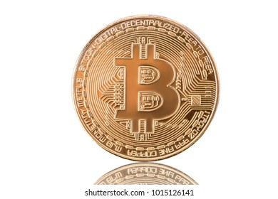 Bitcoin isolated on white