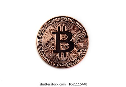 Bitcoin isolated on white background for digital marketing