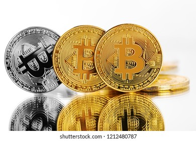 bitcoin isolated on a white background