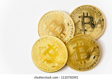 Bitcoin with isolated white background