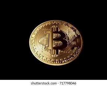 Bitcoin on Black Backing