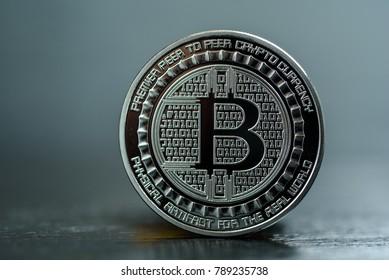 bitcoin on a dark background