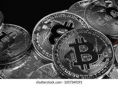 Bitcoin or Physical Digital currency or Cryptocurrency Golden coin for use digital money or wallet in future as business background
