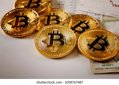bitcoin and some paper cutting on sharemarket graph