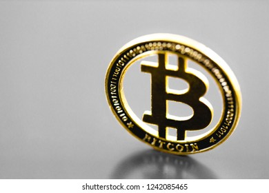 bitcoin sv coin on the grey background