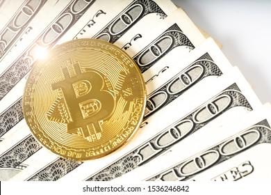 Bitcoin symbol cash for payment symbol cash with dollar, Cryptocurrency concept