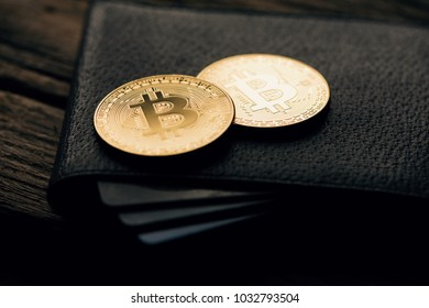 BItCoin Symbol. Bitcoin new virtual money in the dark