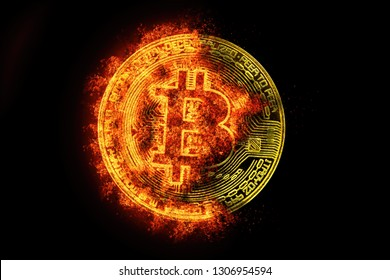 Bitcoin that is consuming and exhausting. Bitcoin hot because its value goes up a lot.Bitcoin burning its price in historical maximums or minimum. Bitcoin recently mined.