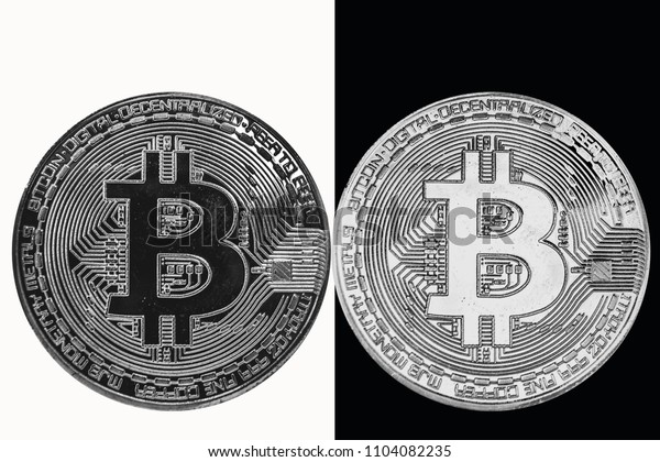 Bitcoin is the Yin Yang. White coin on a black background and a black coin on a white background.