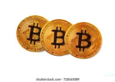 bitcoins  white background