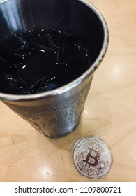 Bitcon with cold brew coffee