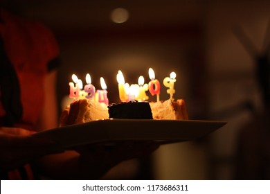 Bithday candles and cake