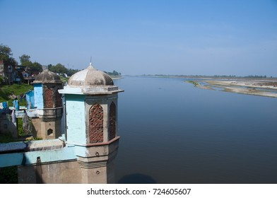 BITHOOR, INDIA 26 FEBRUARY 2016 : Old abandoned religious building in Bithoor, Kanpur, Uttar Pradesh, India