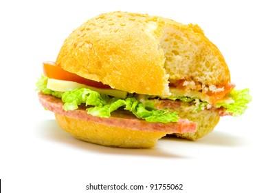 biting a burger