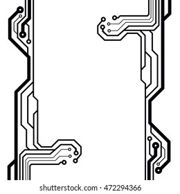 Bitmap circuit board illustration