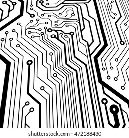 Bitmap of circuit board in perspective view illustration