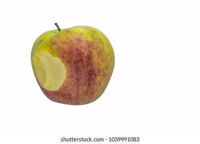 the bitten Apple on the background of the substrate for cards