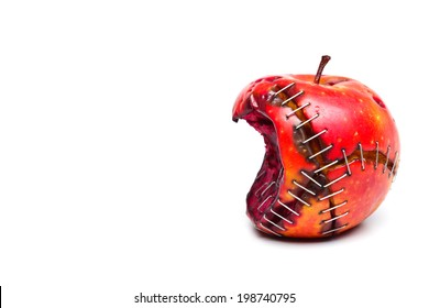 bitten and sewed gmo apple