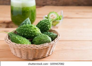 Bitter gourd ( green momodica , Balsam apple, Balsam pear, Bitter cucumber )