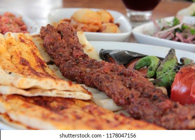 bitter kebab with delicious barbecue