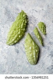 Bitter melon has many name like bitter gourd, bitter apple, bitter squash, balsam-pear and Momordica charantia in Latin. This fruit often use in culinary in many countries.