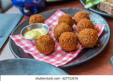 Bitterballen, a typically Dutch food (croquet)